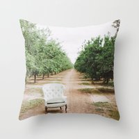 Chair In The Orchard Throw Pillow