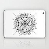 Mandala Art, India, Geometric, Tribal Art, Black and white Laptop & iPad Skin