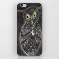 Stylized Owl (Darkened V… iPhone & iPod Skin