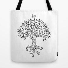 Shirley's Tree BW Tote Bag