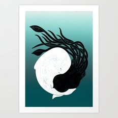 Sea Frenemies Art Print
