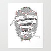 Mistletoe & Holly Canvas Print