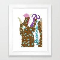 Perrornio de cristal Framed Art Print