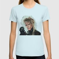 D. Bowie, inside the labyrinth Womens Fitted Tee Light Blue SMALL