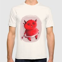 Little devil Mens Fitted Tee Natural SMALL