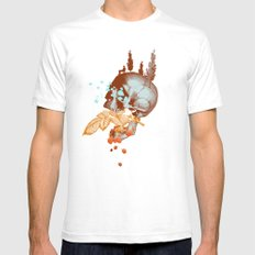 RASPBERRY MOUNTAIN Mens Fitted Tee White SMALL