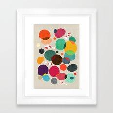 Lotus in koi pond Framed Art Print