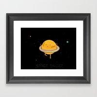 Space ballet Framed Art Print