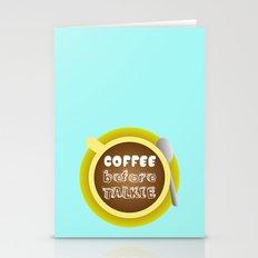 CoffeeBeforeTalkie Stationery Cards