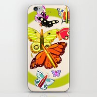 Bullet with Butterfly Wings iPhone & iPod Skin