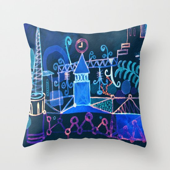 magic city Throw Pillow