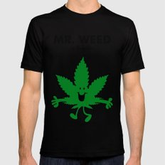 Mr Weed Black Mens Fitted Tee SMALL
