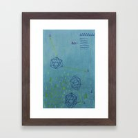 Icosahedron (Water) Framed Art Print