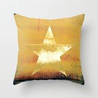 Worn & Weathered Star Throw Pillow