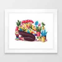 Houseplants Framed Art Print
