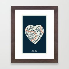 Mr. Cub Framed Art Print