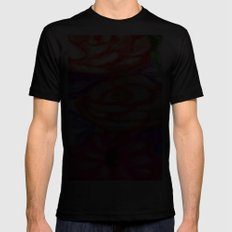 Roses and Daisies SMALL Black Mens Fitted Tee