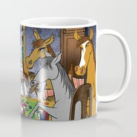 Horses Playing Poker Mug