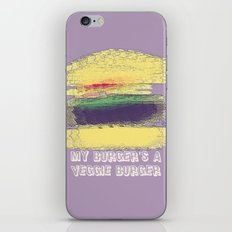 Veggie Burger (purple) iPhone & iPod Skin
