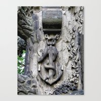 Anchor and Snake  Canvas Print