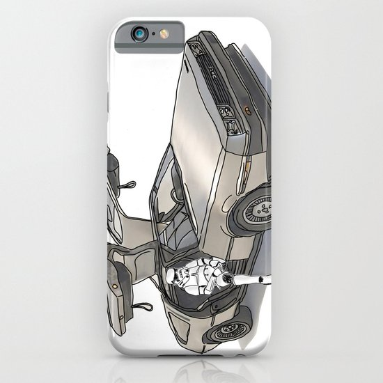 Stormtroooper in a DeLorean - star wars iPhone & iPod Case