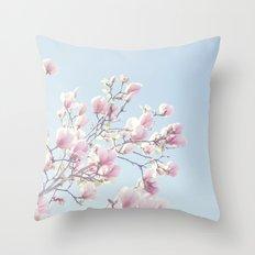 Pink magnolias Throw Pillow