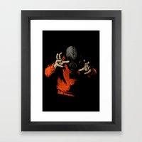 Black Light Framed Art Print