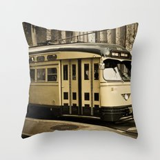 San Francisco Street Car Throw Pillow
