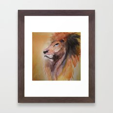 Lion Watercolor  Framed Art Print