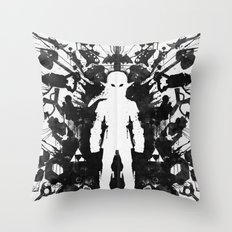 Ink Blot Link Kleptomania Geek Disorders Series Throw Pillow