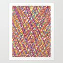 Scribble Crazy Art Print