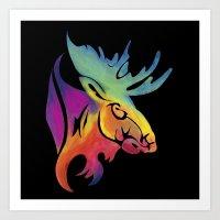 Moose Color Art Print