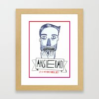 Ansiedad (Anxiety) Framed Art Print