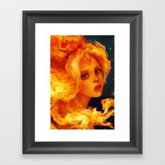 Flame Princess   Framed Art Print
