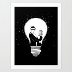 We light up the dark Art Print