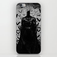 The night rises B&W iPhone & iPod Skin