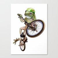 FROG BMX Canvas Print