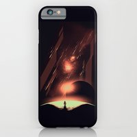 iPhone Cases featuring Intergalactic Travel by Steven Toang