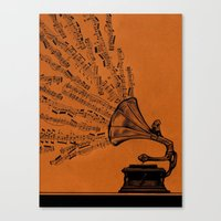 Facing the Music Canvas Print