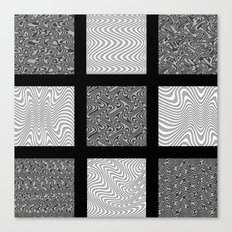 Black and Gray Waves Canvas Print