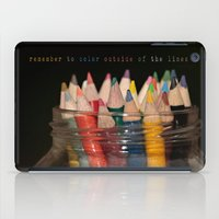 Color outside of the lines iPad Case