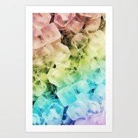 ICE CUBES Art Print