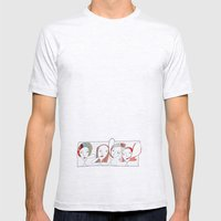 Le Quattro Grazie Mens Fitted Tee Ash Grey SMALL