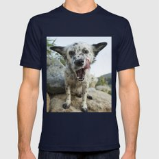 Dog Mens Fitted Tee Navy SMALL