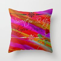 Sweet Or Sultry - Sexy C… Throw Pillow