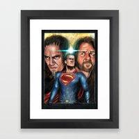 Man Of Steel Framed Art Print