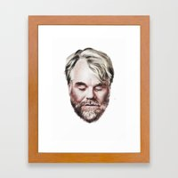 Philip Seymour Hoffman Portrait Framed Art Print