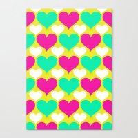 Happy Hearts Canvas Print