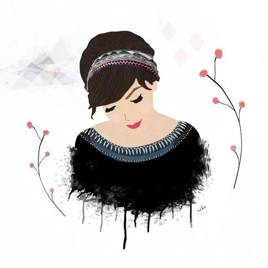ONE SWEET GIRL Art Print