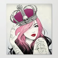 Save The Queen Canvas Print